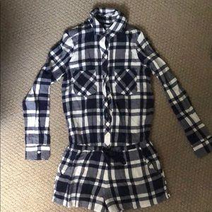 Aerie flannel pajama shortie.